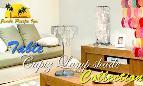 De Hand van Phlippine - de gemaakte producten van de schaduwen van de lijst capiz lamp in verscheidenheid van inzameling van capizspaanders ontwerpen en in verschillende kleuren en grootte.