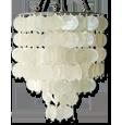 natuurlijke witte capizkroonluchter
