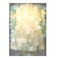 gekleurde capiz lampschaduw